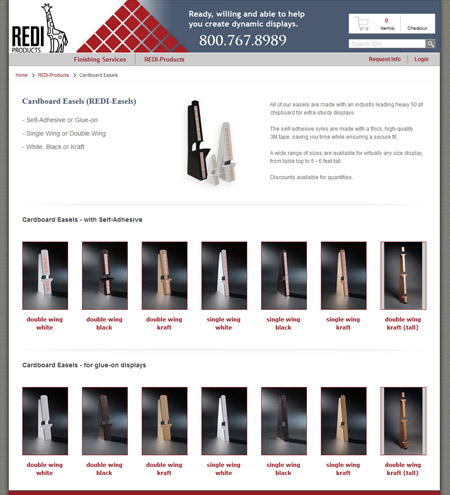 Custom printing storefront postards product page
